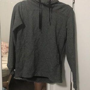 Lululemon size 4 high neck gray hoodie